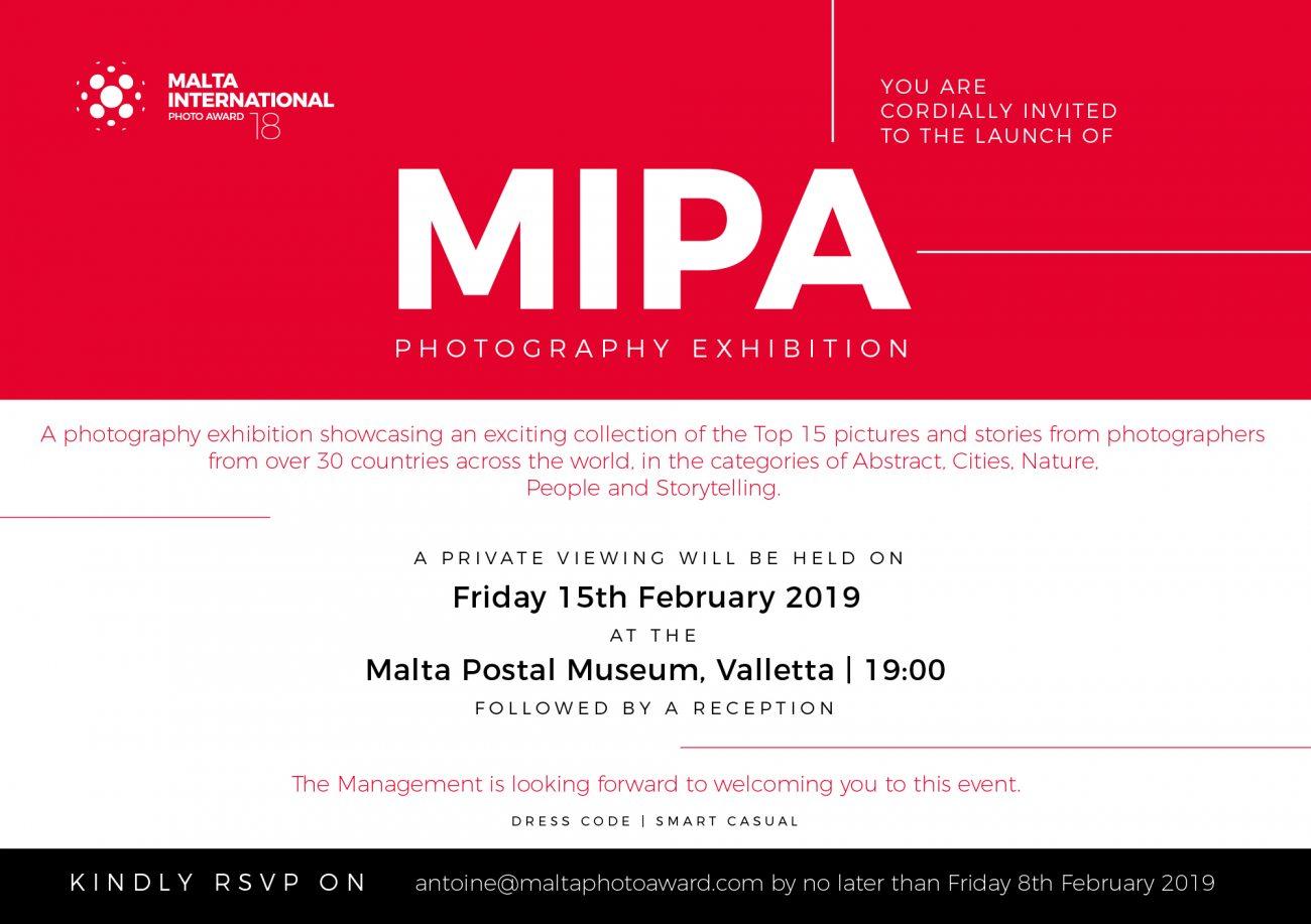 Invitation to MIPA Photography Exhibition