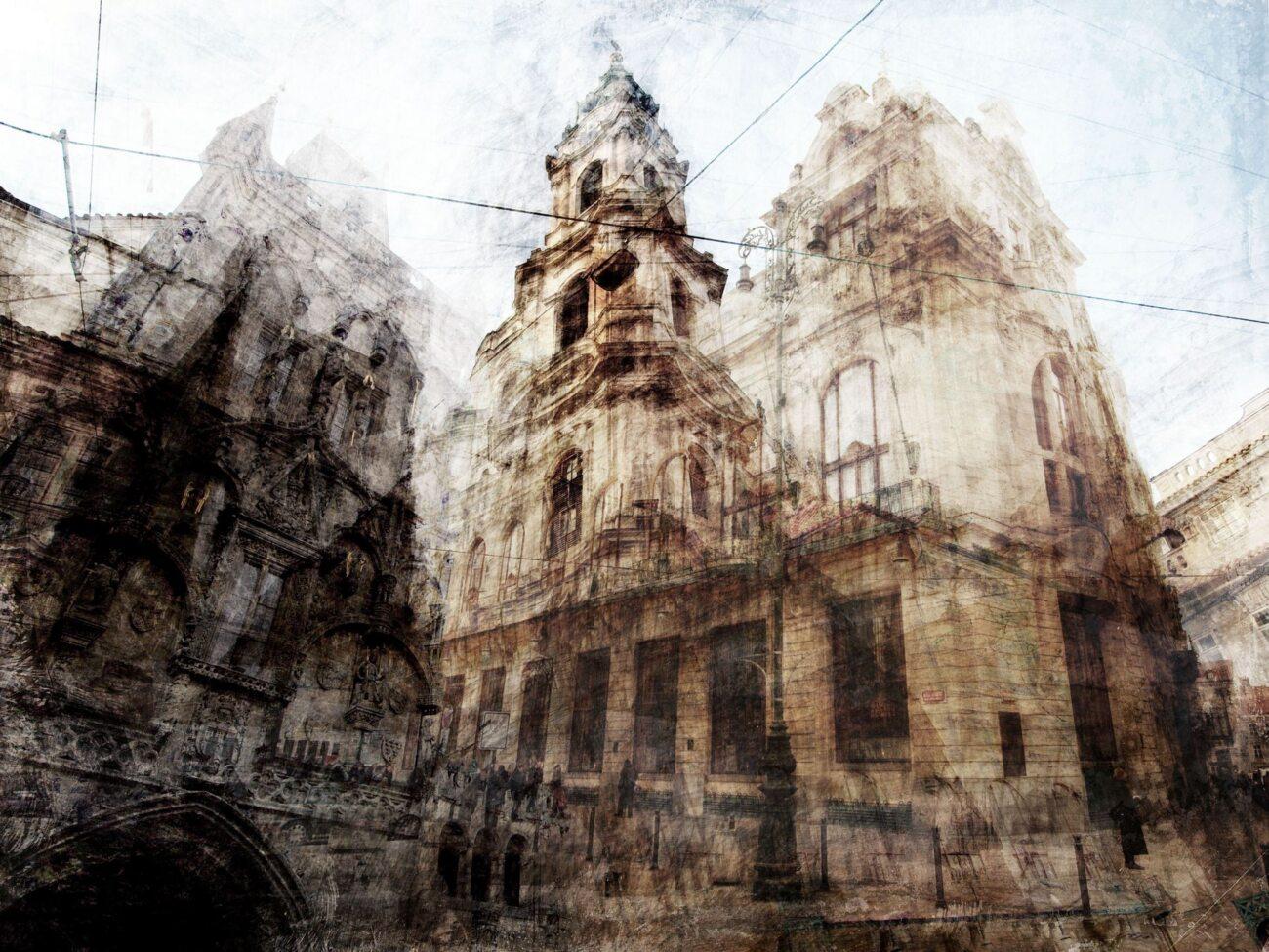 Prague, photographic collage, 2011