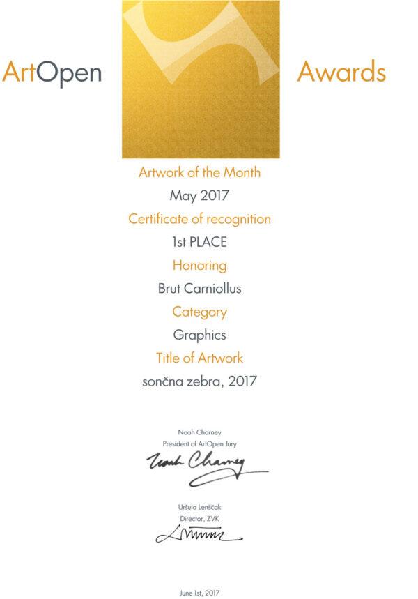 Artopen artwork of the month award