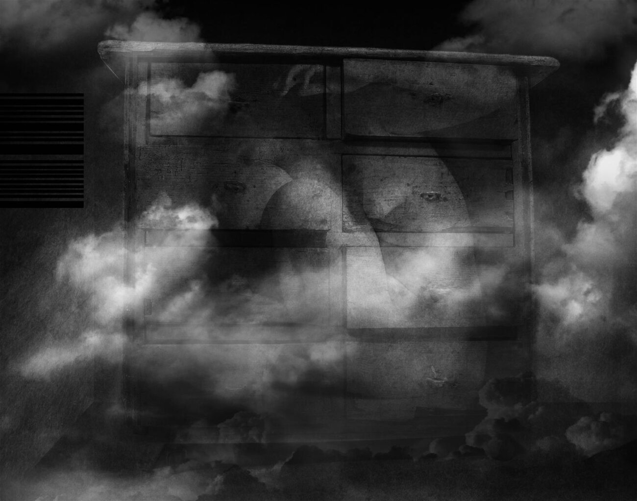 sheltering the storm, digital collage, original digital UV print up to 166x211cm, 2012