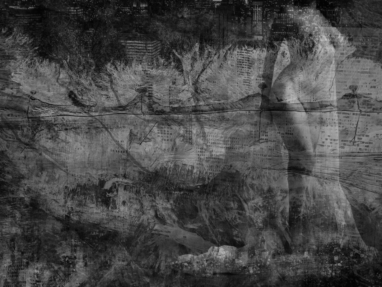 Steph, digital collage, original digital UV print up to 120x160cm, 2017