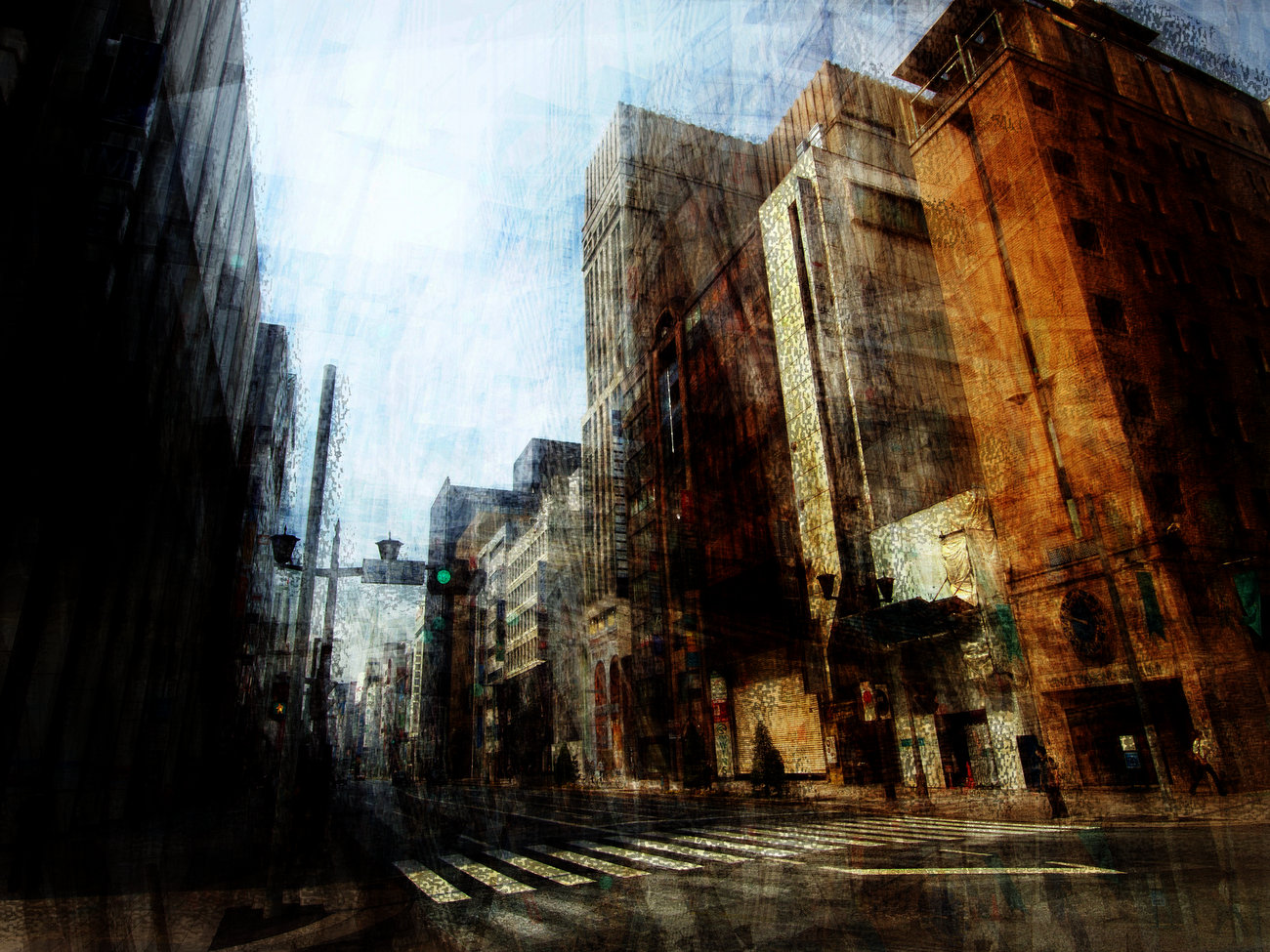 Cityscape exhibition, Blank Wall Gallery, Athens, Greece