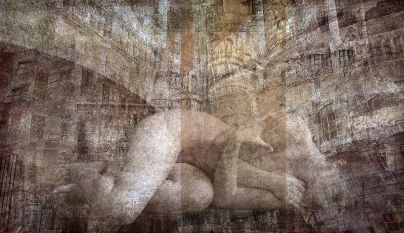 whispers of the city, digital collage, original digital UV print up to 140x240cm, 2012